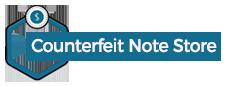 counterfeit note store Logo